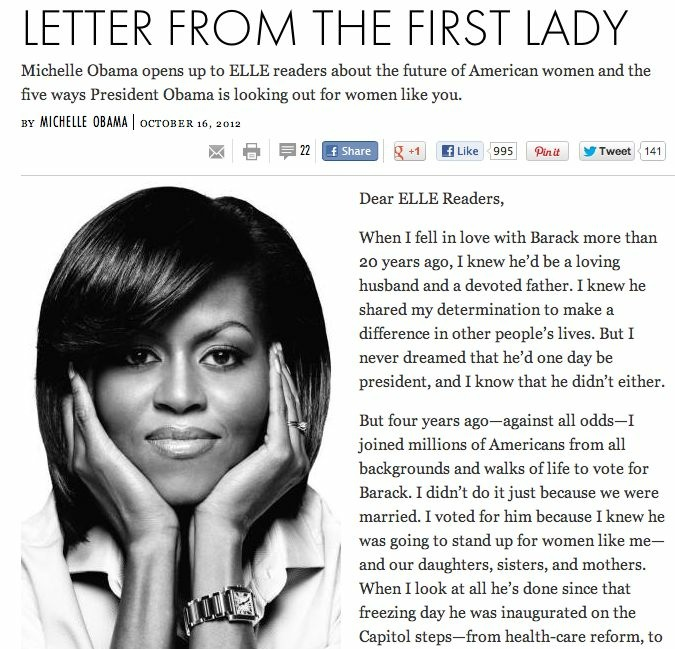 First Lady Michelle Obama and Ann Romney have made magazines a platform for courting women voters.
