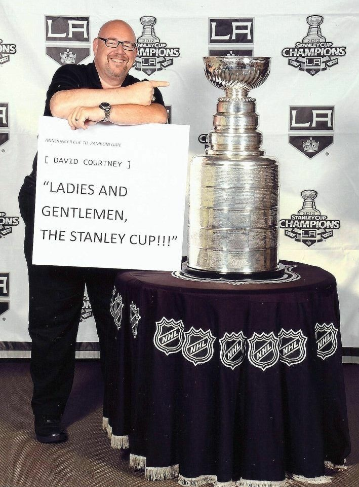 David Courtney after the LA Kings' championship.