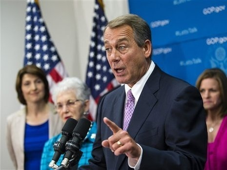 House Speaker John Boehner, R-Ohio, at a Friday news conference.