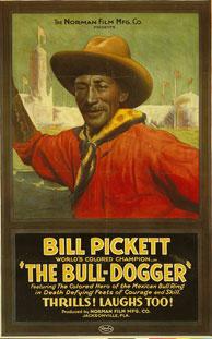 The Bull-Dogger (c 1921)  Starring Bill Pickett Movie Poster