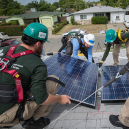 Installing solar panels, and boosting renewable energy, is part of California's plan to hit ambitious cuts in carbon emissions in the coming years.