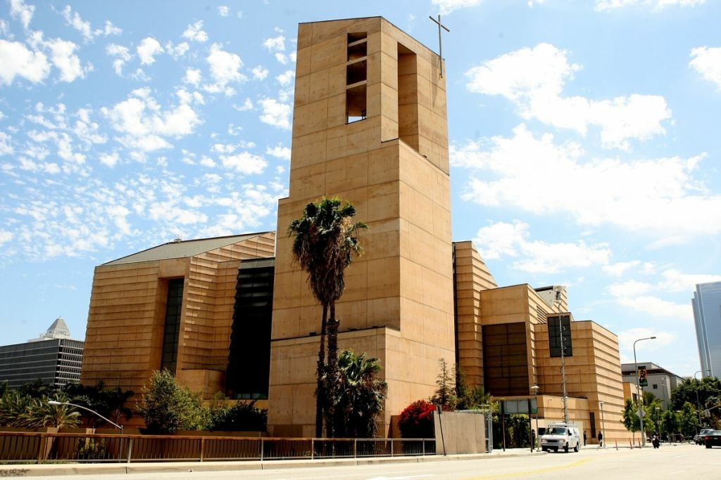 File: The Cathedral of Our Lady of the Angels on June 30, 2009 in Los Angeles.