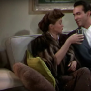 "Scene from ""Neptune's Daughter"" in which ""Baby, it's cold outside"" is performed."