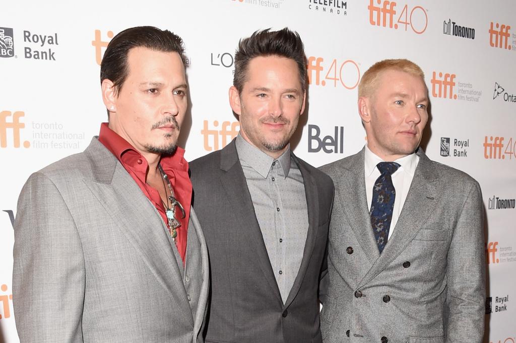 TORONTO, ON - SEPTEMBER 14:  Actor Johnny Depp, director Scott Cooper and  actor Joel Edgerton attends the
