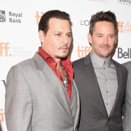 "Actor Johnny Depp, director Scott Cooper and  actor Joel Edgerton attends the ""Black Mass"" premiere during the 2015 Toronto International Film Festival at The Elgin on September 14, 2015 in Toronto, Canada"