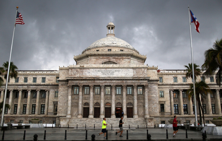 The Puerto Rican Capitol building is seen as the island's residents deal with the government's $72 billion debt.