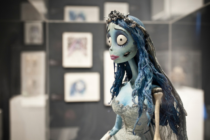 Installation view of Emily Puppet (Corpse Bride), 2005.