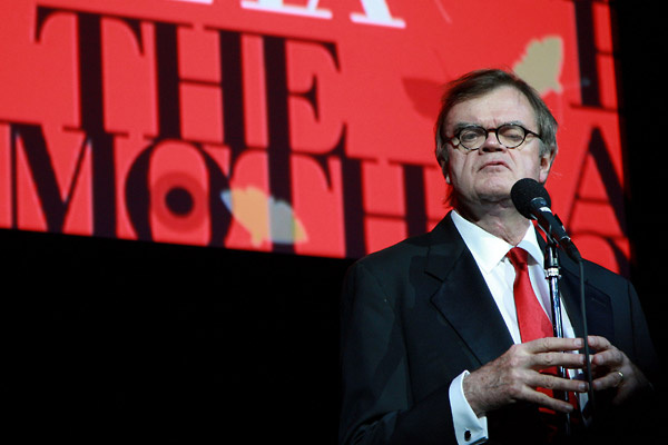 Garrison Keillor attends the annual Moth Ball literary and charity event at Capitale November 18, 2008 in New York City. Keillor will end his tenure as host with performances at some of his favorite outdoor venues, including Wolf Trap near Washington, D.C., Ravinia near Chicago and Tanglewood in Massachusetts, according to