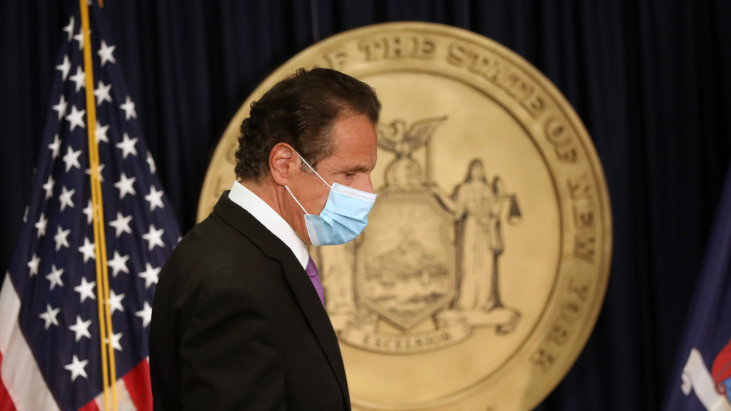 New York Gov. Andrew Cuomo, pictured at a news conference earlier this month, said Thursday that