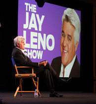 PASADENA, CA - AUGUST 05: Television host Jay Leno of the 'Jay Leno Show' speaks during the NBC Network portion of the 2009 Summer Television Critics Association Press Tour at The Langham Huntington Hotel & Spa on August 5, 2009 in Pasadena, California. (Photo by Frederick M. Brown/Getty Images)