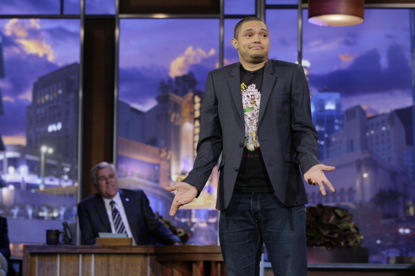 THE TONIGHT SHOW WITH JAY LENO -- Episode 4177 -- Pictured: Comedian Trevor Noah performs on January 6, 2012 -- The South African comedian recently found himself in hot water over past tweets. Photo by: Paul Drinkwater/NBC/NBCU Photo Bank