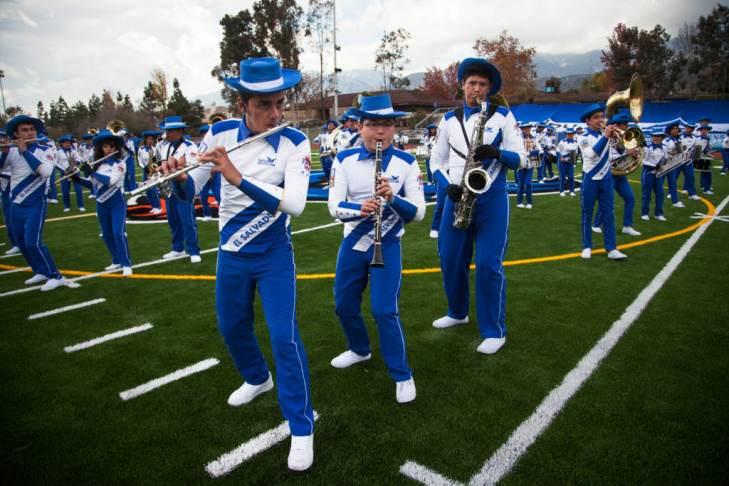 El Banda Salvador plays at Duarte High School for about 3,000 fans on December 30th, 2012. The band will perform at the Rose Parade on January 1st, 2013 in Pasadena, Calif.