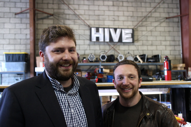 Hive Lighting co-founders Rob Rutherford and Jon Miller don't sell their plasma lights as energy efficient. Miller says