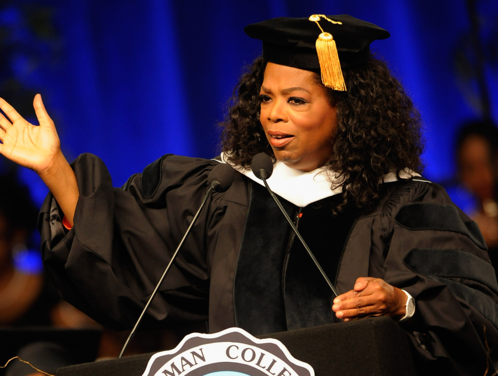Oprah Winfrey attends the Spelman College Commencement at Georgia International Convention Center on May 20, 2012 in College Park, Ga.
