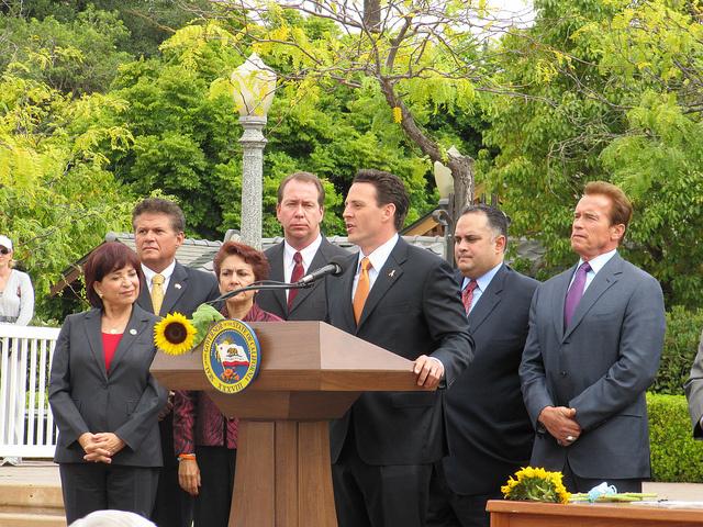 Nathan Fletcher speaks in Balboa Park on September 9, 2010.