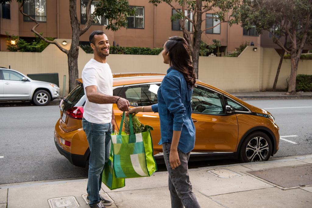General Motors' Maven Gig is a weekly car rental service for workers in the gig economy. Drivers pay a flat free to use the vehicle, which includes unlimited mileage, insurance and maintenance.