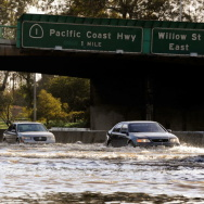 Severe Rain Storms Causes Flooding In Southern Los Angeles Area