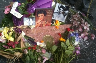 The memorial around Elizabeth Taylor's Hollywood Walk of Fame star continues to grow on March 23, 2011 as fans remember the film legend.