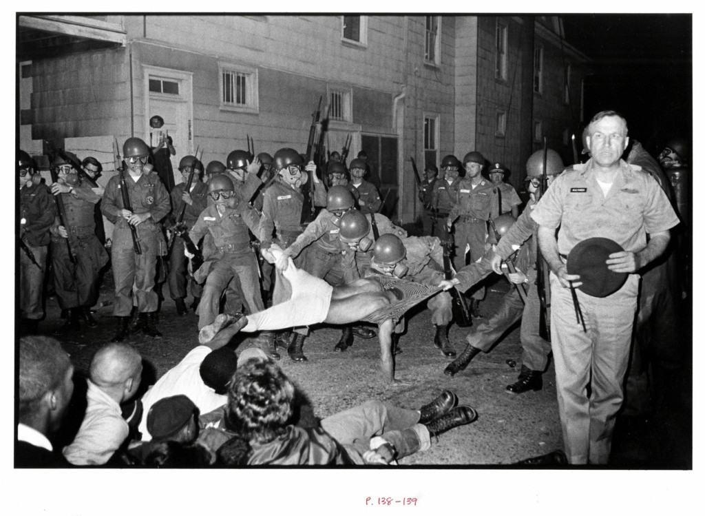 Cliff Vaughs, SNCC photographer, Arrested, Cambridge MD Spring, from Memories of The Southern Civil Rights Movement, 1964