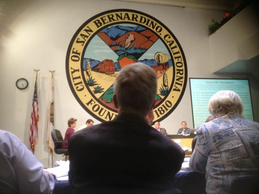 San Bernardino City Hall meeting chambers