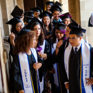 'Dreamer' students from UCLA prepare to enter their graduation ceremony in 2012.