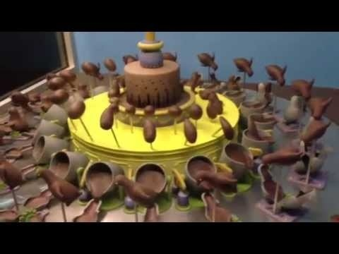 This is an exhibit from a chocolate factory in Melbourne Australia