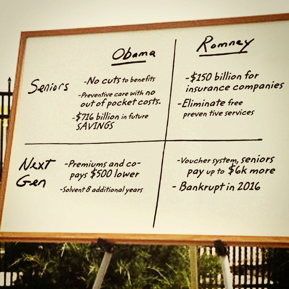 The Obama campaign quickly responded to Mitt Romney's Medicare whiteboard.