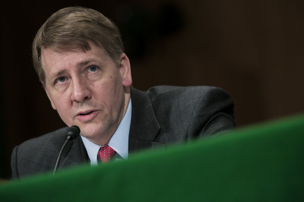 Richard Cordray, nominee for director of the Consumer Financial Protection Bureau, testifies at a confirmation hearing before the Senate Committee on Banking, Housing and Urban Affairs on March 12, 2013 in Washington, DC.