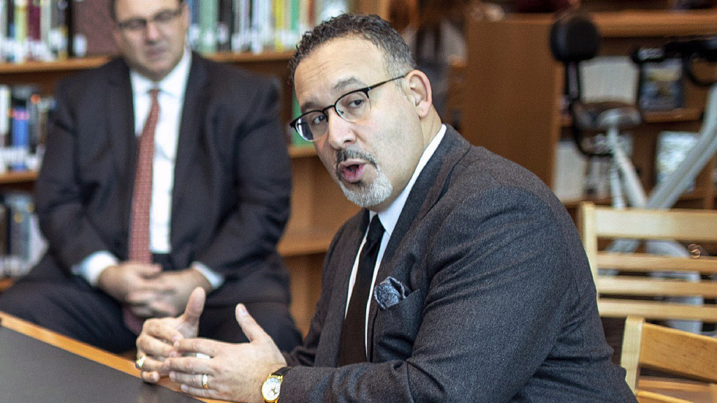 Connecticut Education Commissioner Miguel Cardona, pictured in January, is expected to be President-elect Joe Biden's nominee for education secretary.