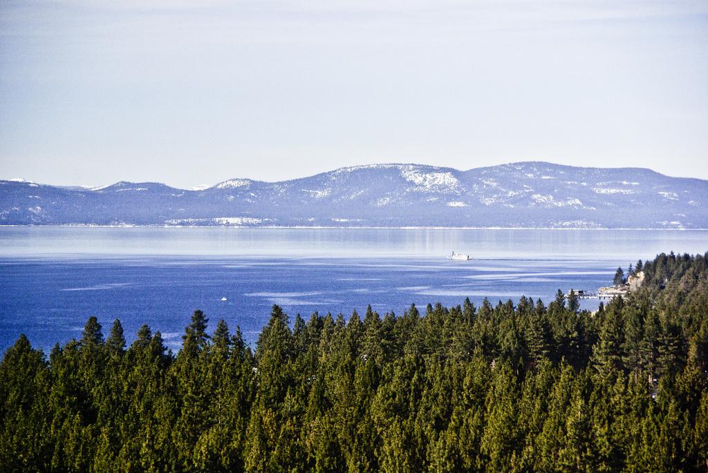 View of Lake Tahoe from Harrah's Hotel & Casino, Lake Tahoe, Nevada.