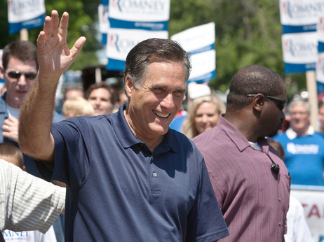 Republican presidential candidate Mitt Romney on July 4, 2012 in Wolfeboro, N.H.