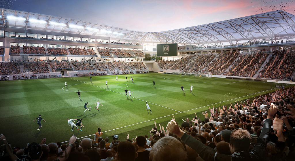 LAFC breaks ground on new stadium, unveils name of venue