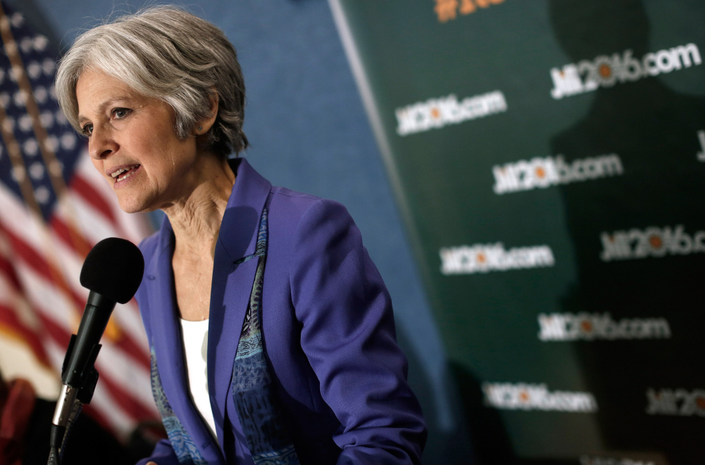 Green Party presidential nominee Jill Stein speaks at the National Press Club February 6, 2015 in Washington, DC.