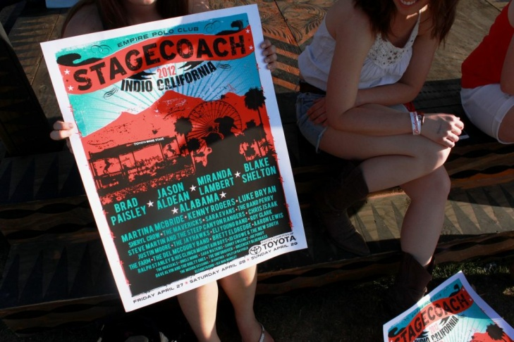 Stagecoach poster and fans
