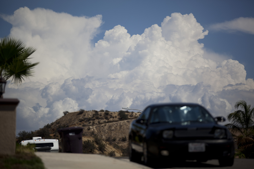 File: Thunderstorms were dropping water over Mt. Pinos and Frazier Park in northern central areas of the county.