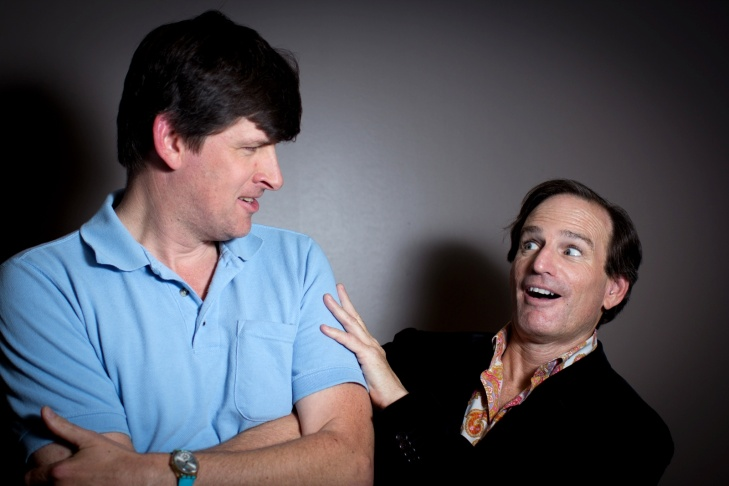 Off-Ramp host John Rabe with Bob Tur, who's begun treatment for Gender Identity Disorder, and will soon be Zoey