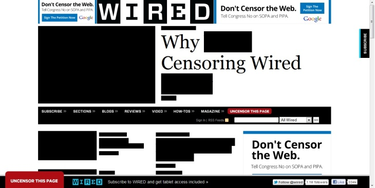 SOPA/PIPA Protest, Wired