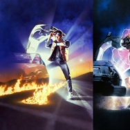 """Back to the Future"" poster images by Drew Struzan"