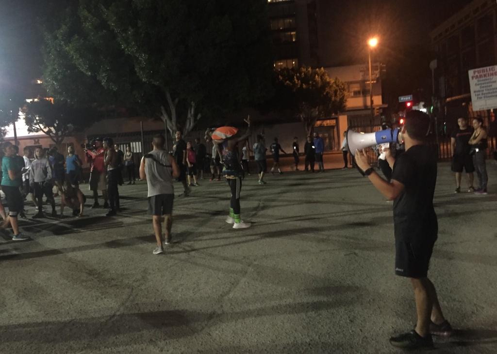 Blacklist LA founder, Erik Valiente, addresses Blacklist LA runners.