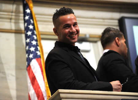 "Cast Of ""Jersey Shore"" Rings The NYSE Opening Bell - July 27, 2010"