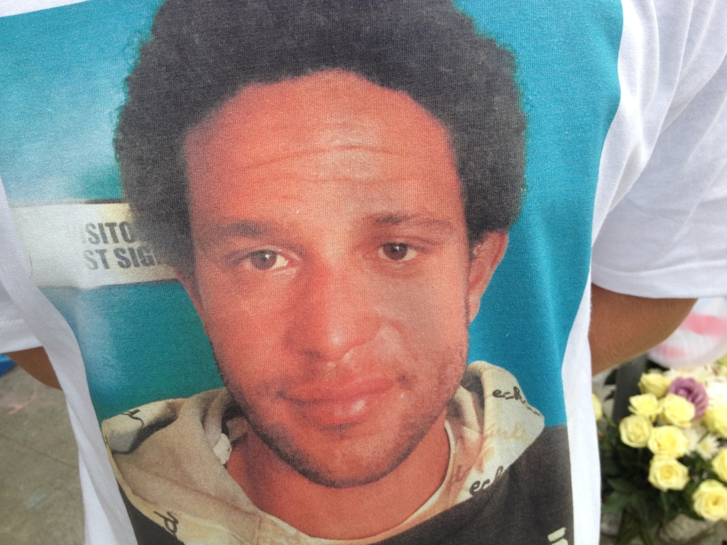 Brendon Glenn was fatally shot by LAPD officers May 5, 2015. A friend created a t-shirt with his image the next day.