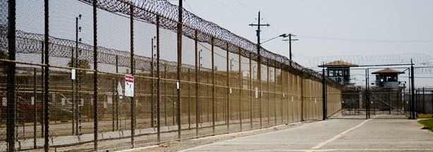 File photo: The California Institution for Men prison fence is seen on August 19, 2009 in Chino, California.