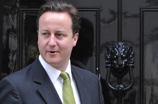 Britain's Prime Minister David Cameron is pictured on the doorstep of 10 Downing Street in London, on June 7, 2010. Cameron announced recently that marriage visa applicants would be tested for their proficiency in English.