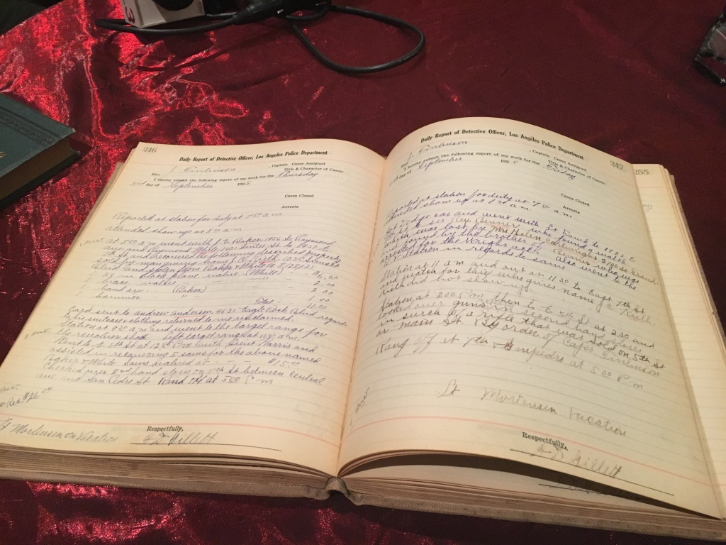 This 1925 LAPD ledger will be on sale at the 51st California International Antiquarian Book Fair.