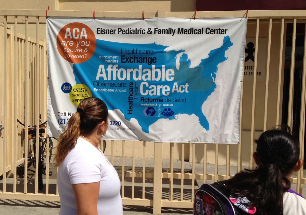 A new survey finds that the rate of uninsured Californians has fallen by half since the Affordable Care Act began expanding access nine months ago.