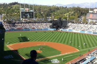 Opening day inside Dodgers Stadium, March 31, 2011.