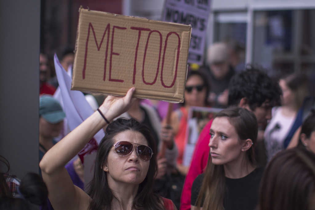 LOS ANGELES, CA - NOVEMBER 12: Demonstrators participate in the #MeToo Survivors' March in response to several high-profile sexual harassment scandals on November 12, 2017 in Los Angeles.