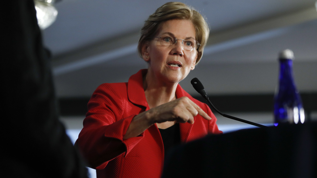 Sen. Elizabeth Warren is cautious on the impeachment question, urging lawmakers to wait for special counsel Robert Mueller's report.