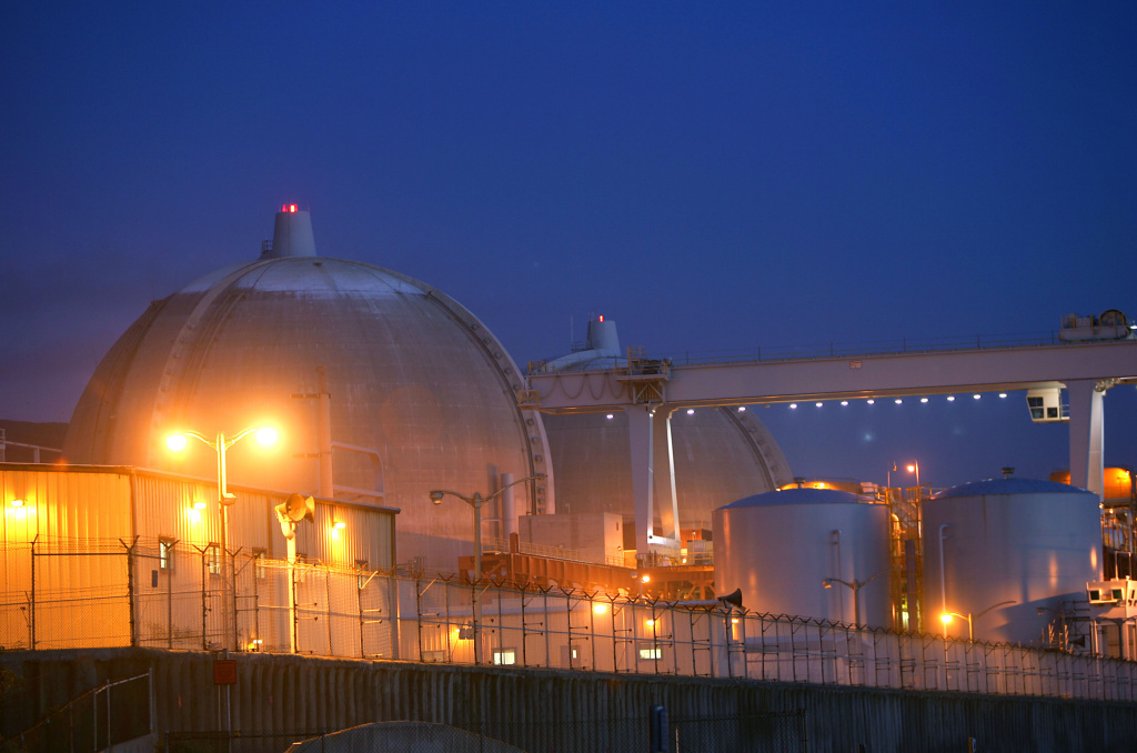 A shot of the San Onofre Nuclear Power Plant.