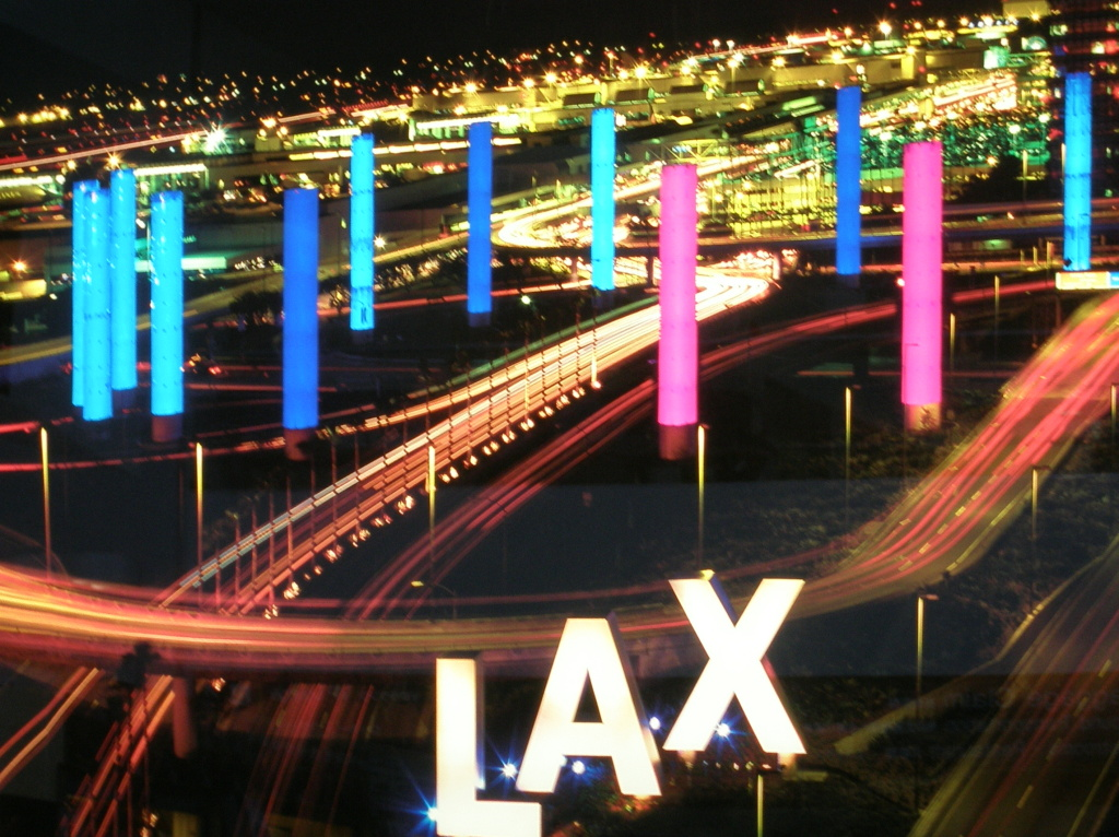 LAX at night.